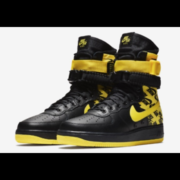 official photos 236d6 632ed Nike Shoes | Sf Af1 High Dynamic Yellow And Black | Poshmark